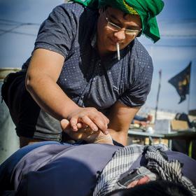 سوگواره سوم-عکس 51-امیر امیدنژاد-پیاده روی اربعین از نجف تا کربلا