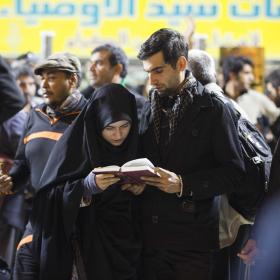 سوگواره چهارم-عکس 43-علی بیات-پیاده روی اربعین از نجف تا کربلا