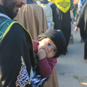 سوگواره سوم-عکس 34-احمد قارداش پور طرقی-پیاده روی اربعین از نجف تا کربلا