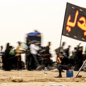 سوگواره سوم-عکس 15-امیر قیومی-پیاده روی اربعین از نجف تا کربلا