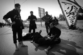 سوگواره سوم-عکس 82-حسین استوار -پیاده روی اربعین از نجف تا کربلا