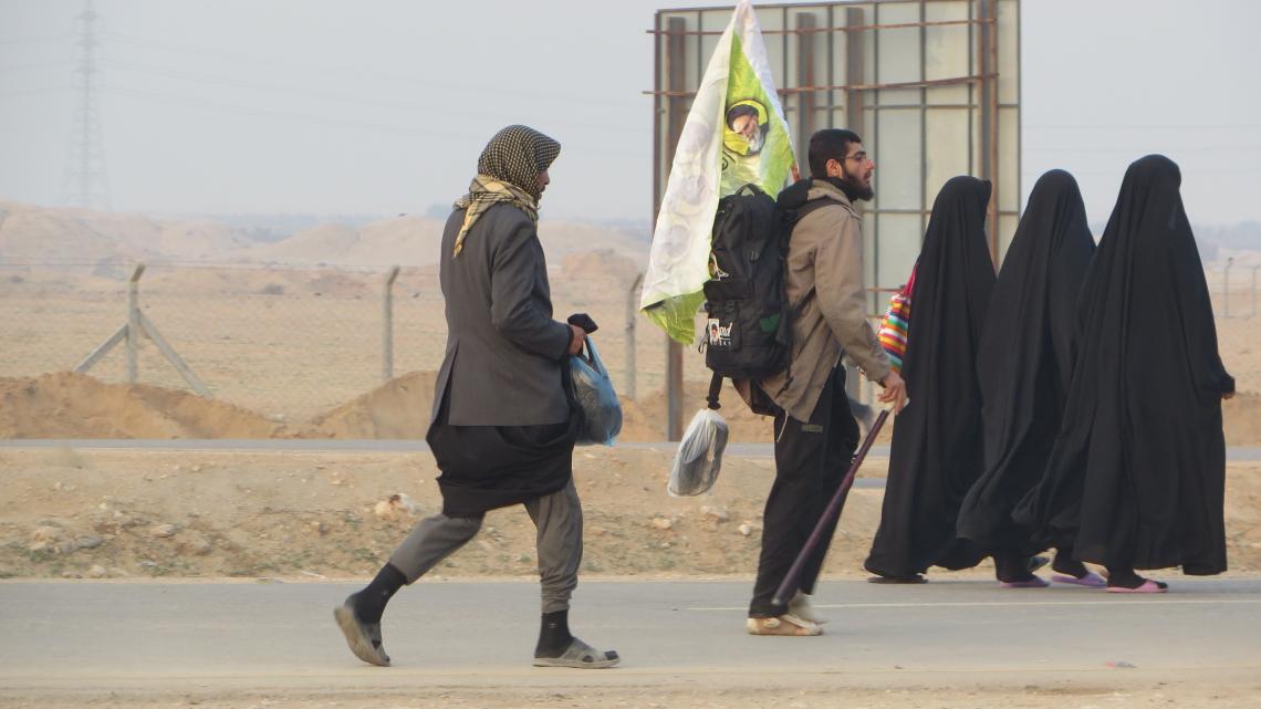 سوگواره چهارم-عکس 19-مجید پناهی-پیاده روی اربعین از نجف تا کربلا