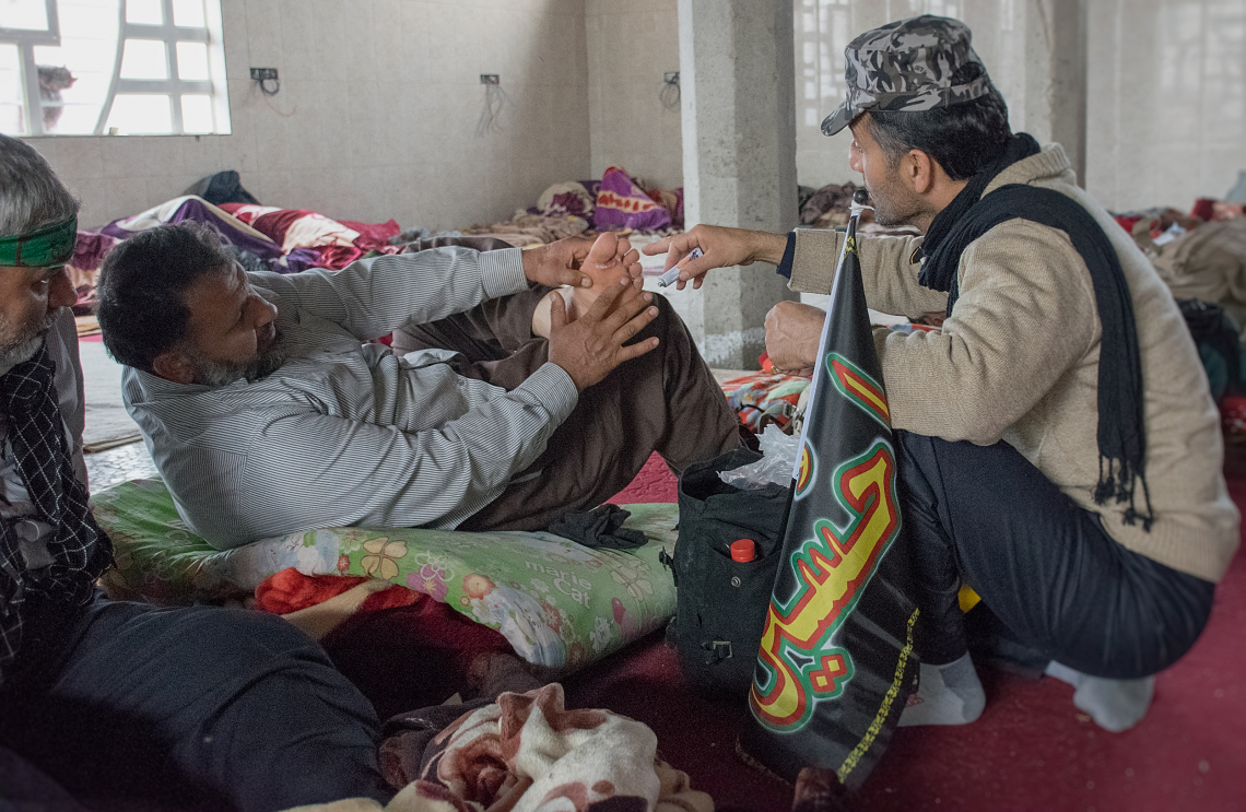 سوگواره چهارم-عکس 4-عبدالمجید اکبری-پیاده روی اربعین از نجف تا کربلا