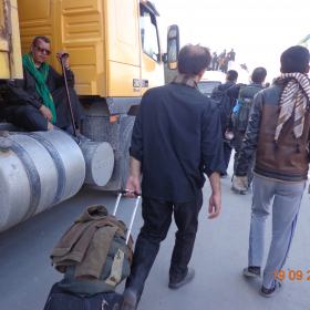 سوگواره سوم-عکس 15-علی مقنی-پیاده روی اربعین از نجف تا کربلا