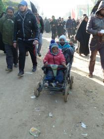 سوگواره دوم-عکس 2-حسین مذنب-پیاده روی اربعین از نجف تا کربلا
