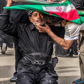 سوگواره پنجم-عکس 109-امیر قیومی-پیاده روی اربعین از نجف تا کربلا