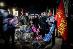 سوگواره پنجم-عکس 40-سید محمود حسینی-پیاده روی اربعین از نجف تا کربلا