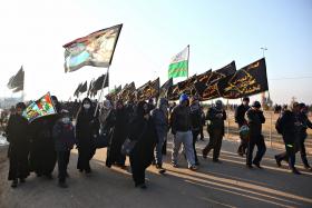 سوگواره سوم-عکس 9-امیر حسامی نزاد-پیاده روی اربعین از نجف تا کربلا