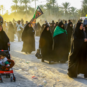 سوگواره چهارم-عکس 14-مجید حجتی-پیاده روی اربعین از نجف تا کربلا