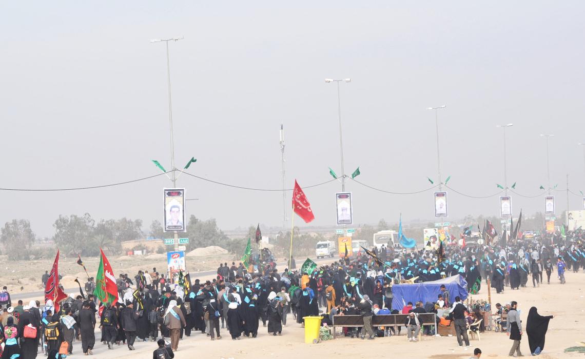 سوگواره چهارم-عکس 42-محمد علیپور شهیر-پیاده روی اربعین از نجف تا کربلا