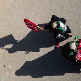 سوگواره پنجم-عکس 62-علی  حسن زاده-پیاده روی اربعین از نجف تا کربلا