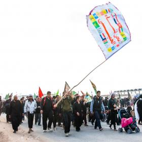 سوگواره پنجم-عکس 45-امیر عنایتی-پیاده روی اربعین از نجف تا کربلا