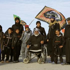سوگواره دوم-عکس 2-علی بیات-پیاده روی اربعین از نجف تا کربلا