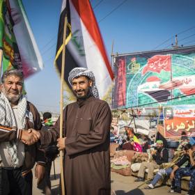 سوگواره چهارم-عکس 21-سید ولی  شجاعی لنگری-پیاده روی اربعین از نجف تا کربلا