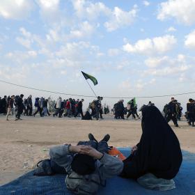 سوگواره چهارم-عکس 100-علی دهقان-پیاده روی اربعین از نجف تا کربلا