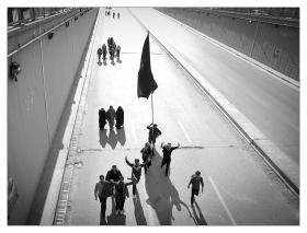 سوگواره چهارم-عکس 35-حمید رضا حبیبی محب سراج-پیاده روی اربعین از نجف تا کربلا