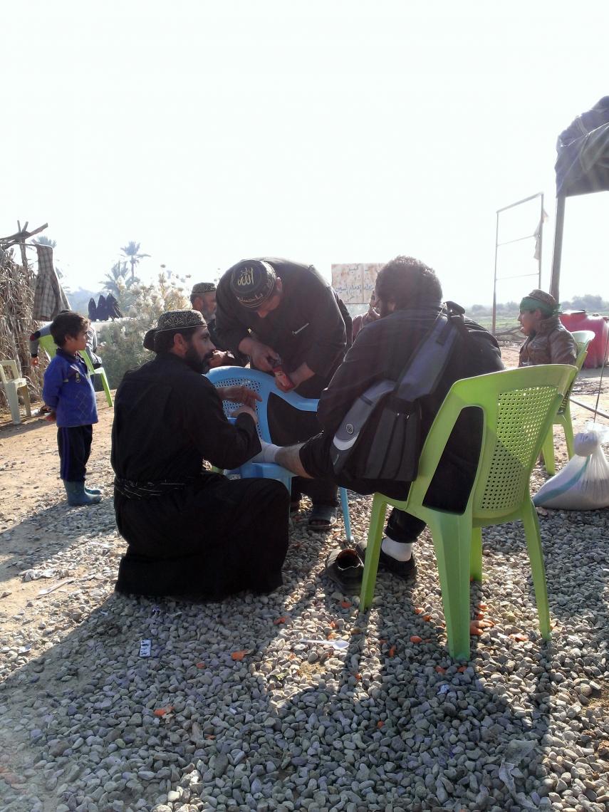 سوگواره سوم-عکس 4-محمد باقری-پیاده روی اربعین از نجف تا کربلا