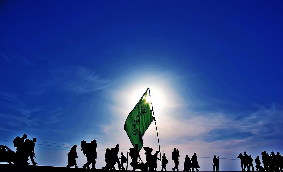 سوگواره چهارم-عکس 6-ناصر گل نظری-پیاده روی اربعین از نجف تا کربلا