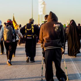سوگواره سوم-عکس 9-محمدرضا پارساکردآسیابی-پیاده روی اربعین از نجف تا کربلا