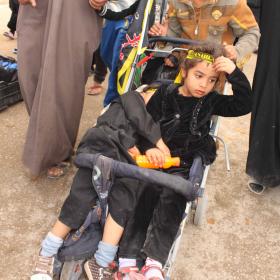 سوگواره سوم-عکس 43-سیده هاله حیدری-پیاده روی اربعین از نجف تا کربلا