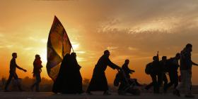 سوگواره پنجم-عکس 1-مصطفی عبیداوی-پیاده روی اربعین از نجف تا کربلا