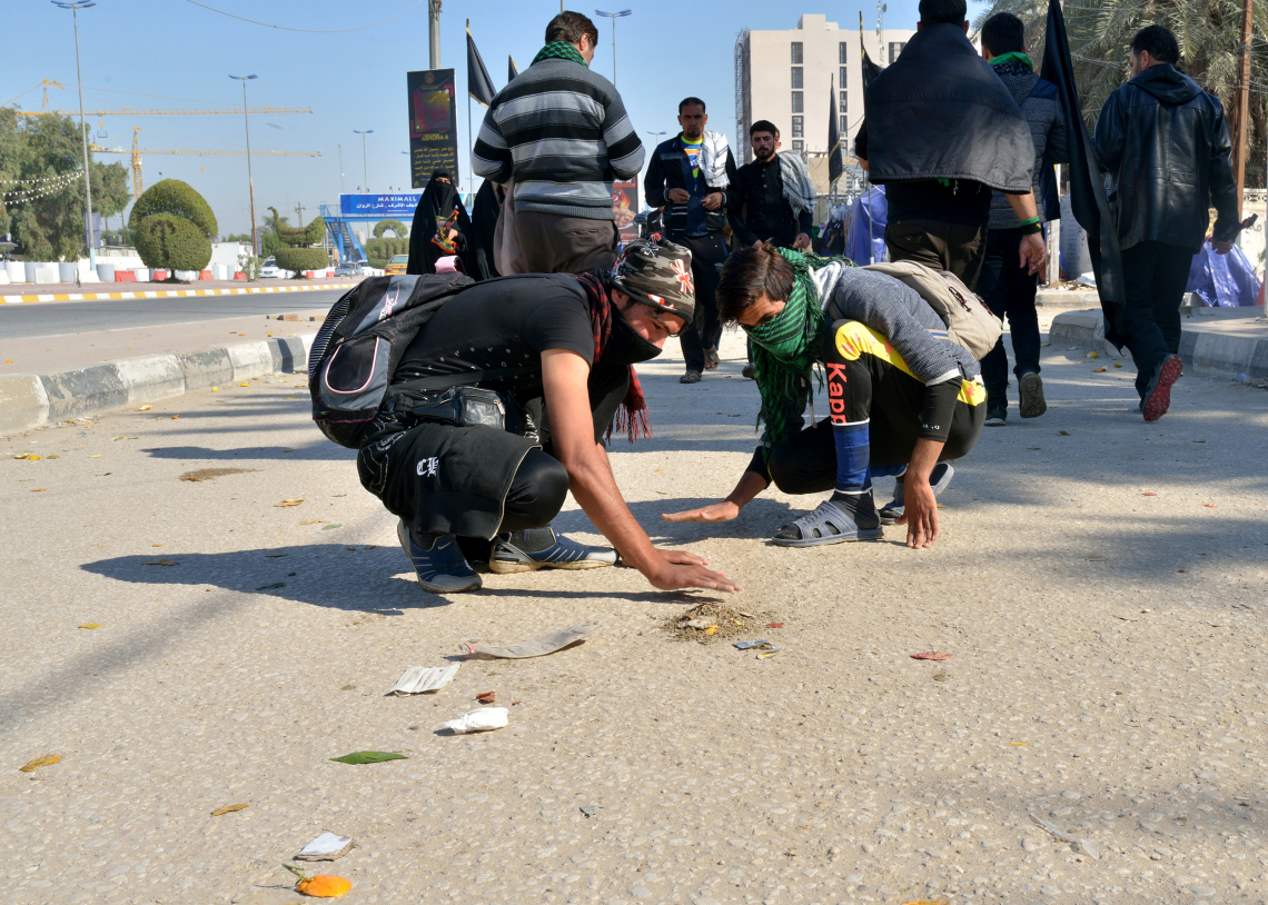 سوگواره چهارم-عکس 53-سید محمد جواد صدری-پیاده روی اربعین از نجف تا کربلا