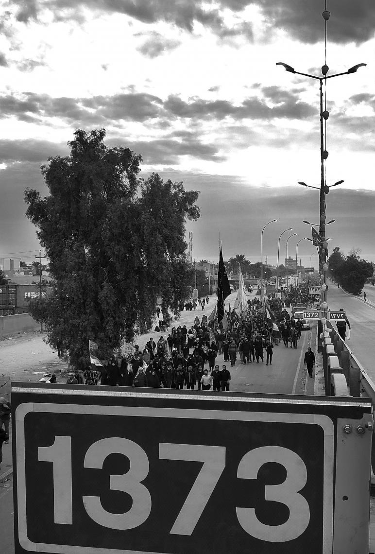 سوگواره چهارم-عکس 17-لیلی تفرشی-پیاده روی اربعین از نجف تا کربلا