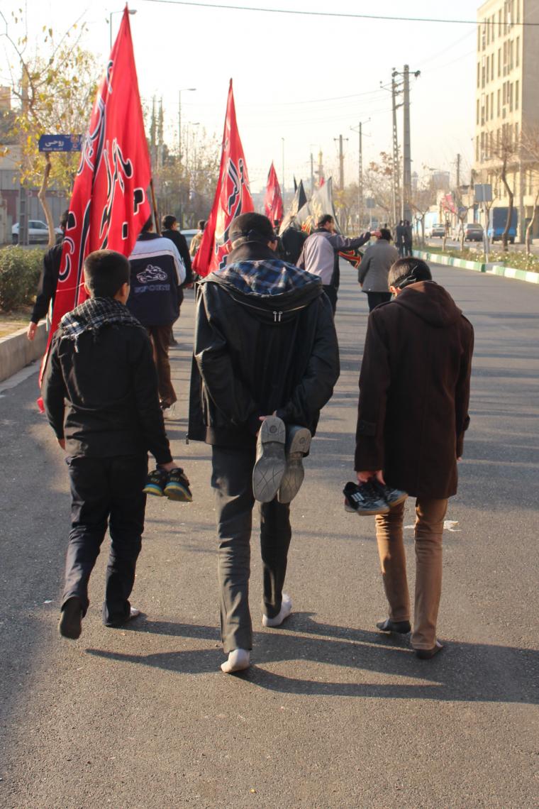 سوگواره چهارم-عکس 42-حسین دیواندری-پیاده روی اربعین از نجف تا کربلا