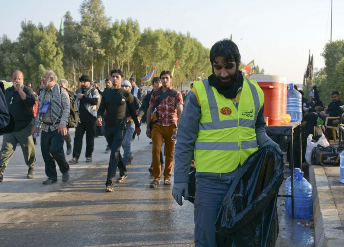 سوگواره چهارم-عکس 34-سید مصطفی عطاری-پیاده روی اربعین از نجف تا کربلا
