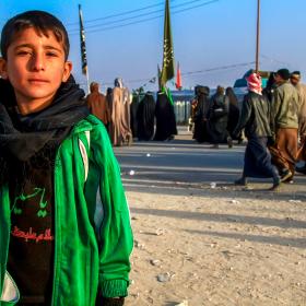 سوگواره پنجم-عکس 41-مجید حجتی-پیاده روی اربعین از نجف تا کربلا