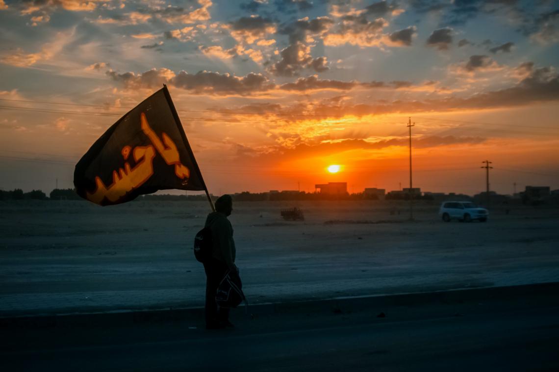 سوگواره پنجم-عکس 46-امیر عنایتی-پیاده روی اربعین از نجف تا کربلا