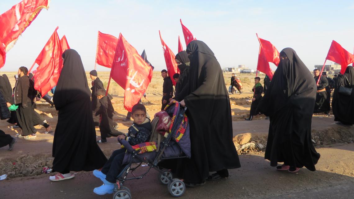 سوگواره سوم-عکس 8-مجید پناهی-پیاده روی اربعین از نجف تا کربلا