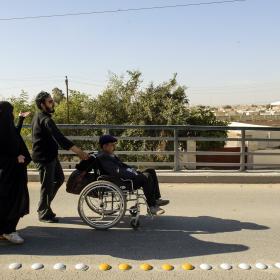 سوگواره سوم-عکس 33-علی دهقان-پیاده روی اربعین از نجف تا کربلا