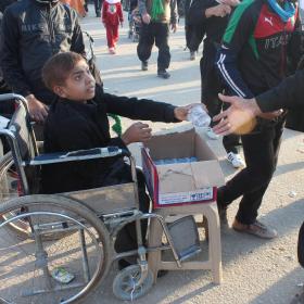 سوگواره سوم-عکس 18-محمد  آهنگر-پیاده روی اربعین از نجف تا کربلا