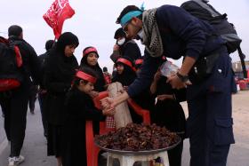 سوگواره پنجم-عکس 13-سعید ابراهیمی نهزمی -پیاده روی اربعین از نجف تا کربلا