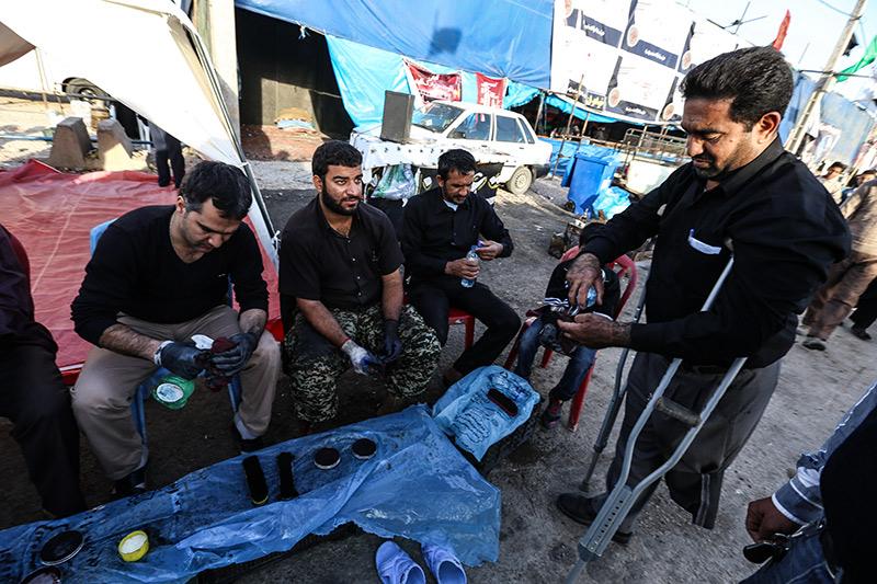 سوگواره سوم-عکس 130-روح اله پورسامانی-پیاده روی اربعین از نجف تا کربلا