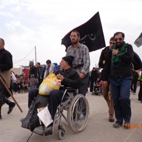 سوگواره سوم-عکس 25-علی مقنی-پیاده روی اربعین از نجف تا کربلا