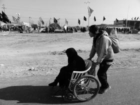 سوگواره دوم-عکس 1-سید علی اصغر حسینی-پیاده روی اربعین از نجف تا کربلا