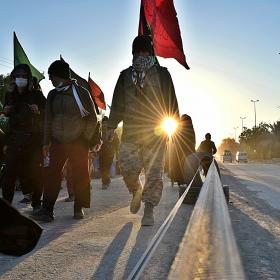 سوگواره پنجم-عکس 35-محمد حسین صادقی-پیاده روی اربعین از نجف تا کربلا