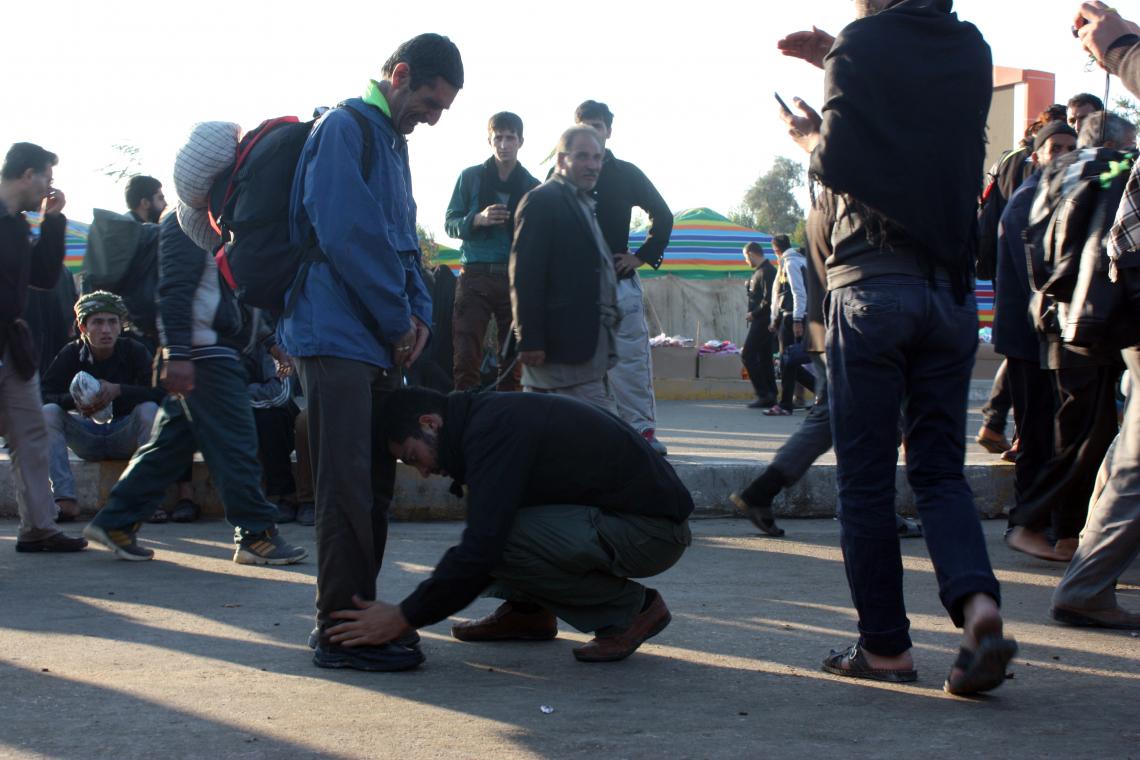 سوگواره سوم-عکس 2-محمد حسن زاده خطیر-پیاده روی اربعین از نجف تا کربلا