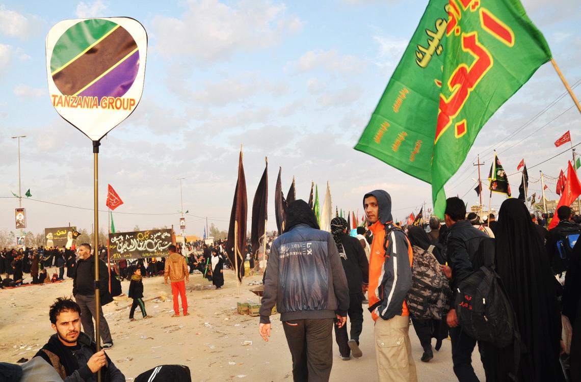 سوگواره چهارم-عکس 35-محمد علیپور شهیر-پیاده روی اربعین از نجف تا کربلا