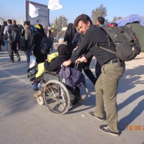 سوگواره سوم-عکس 8-علی مقنی-پیاده روی اربعین از نجف تا کربلا
