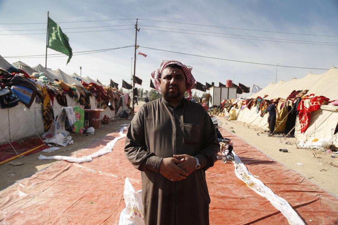 سوگواره چهارم-عکس 13-علی  حسن زاده-پیاده روی اربعین از نجف تا کربلا