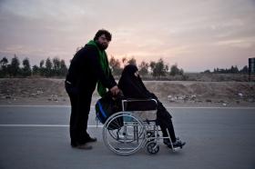 سوگواره چهارم-عکس 19-حامد ایلخان-پیاده روی اربعین از نجف تا کربلا