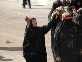 سوگواره دوم-عکس 10-سیده نساء سبحانی-پیاده روی اربعین از نجف تا کربلا