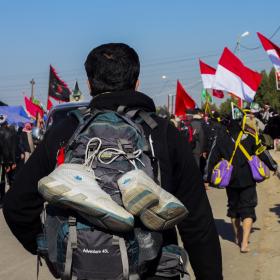 سوگواره سوم-عکس 18-محمدرضا پارساکردآسیابی-پیاده روی اربعین از نجف تا کربلا