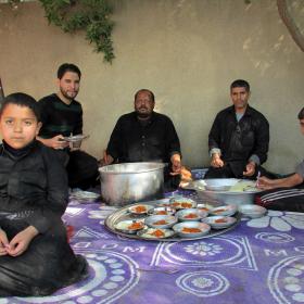 سوگواره سوم-عکس 15-امین رحیم آبادی-پیاده روی اربعین از نجف تا کربلا