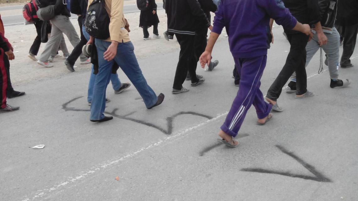 سوگواره سوم-عکس 2-حسن منصوری حبیب ابادی-پیاده روی اربعین از نجف تا کربلا