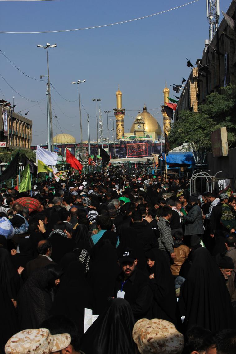 سوگواره سوم-عکس 39-احمد قارداش پور طرقی-پیاده روی اربعین از نجف تا کربلا