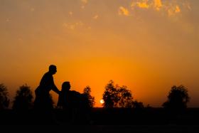 سوگواره چهارم-عکس 2-محمد فواد تقی زاده-پیاده روی اربعین از نجف تا کربلا
